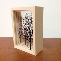 Tree Shadow Box by Theoctopress on Etsy