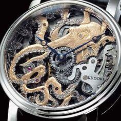 Amazing Steampunk Style Watches from Kudoke