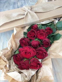 Beautiful Long Stemmed Roses in our Natural Elegance box. Simply Beautiful, Floral Arrangements, Valentines Day, Roses, Elegant, Natural, Box, Gifts, Valentine's Day Diy