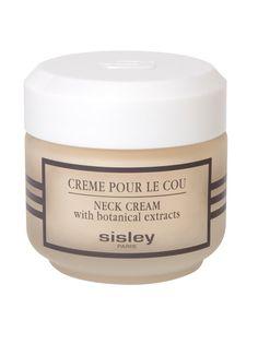 Crème pour le cou de Sisley Crema fina, no grasa, sedosa y muy penetrante que ayuda a preservar la juventud del cuello, zona más vulnerable. Lucha contra el envejecimiento del cuello aportando hidratación y firmeza. (Precio: 126 €).