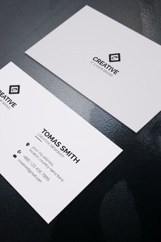 Minimal White Business Card Template