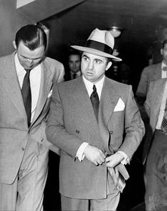 Friend of a friend: L.A. mobster Mickey Cohen, former boxer, gambling boss and associate of Bugsy Siegel, was pals with many Hollywood celebs, including Frank Sinatra and Marilyn Monroe, who in turn were close to JFK. Finally, in Aug. 1963, Cohen was convicted for tax evasion just like Capone before him and sentenced to 10 years in Alcatraz where he was crippled by another prisoner. www.lberger.ca