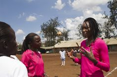 Last week, CARE hosted tennis superstar Venus Williams on her first trip to Africa. Here, she visits our Sports for Social Change program that empowers girls to become leaders through sports in the Kibera slum of Nairobi, Kenya.