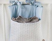 Crib pocket/Range-pyjama 'Blue Daisies' onZeDanceFlore