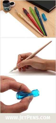Perfect for aspiring manga artists, the Tokyo Slider Comic Pen Nib Holders are made of wood with a comfortable, contoured ergonomic grip!
