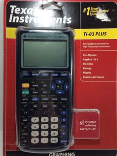 New Texas Instruments TI-83 Plus Graphing Calculator New In Package  #TexasInstruments