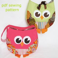 Funky Little Owl Bag, a pdf sewing pattern. I need to make one of these for Olivia!