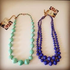 Mint & blue necklaces by @31 Bits. The colors of the ocean #fairtrade #fashionforgood #giveback #moda #originsmatter #takemetothebeach