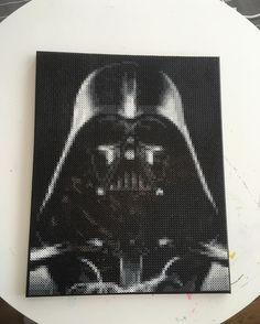 Darth Vader Star Wars perler bead art by artbyfredd