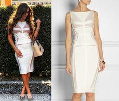 Nikki-Bella-herve-leger-white Hervé Léger white bandage and mesh dress. total divas
