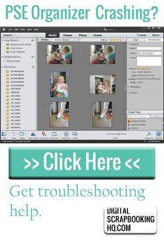 Troubleshoot Photoshop Elements Organizer http://www.digitalscrapbookinghq.com/troubleshooting-photoshop-elements-organizer/