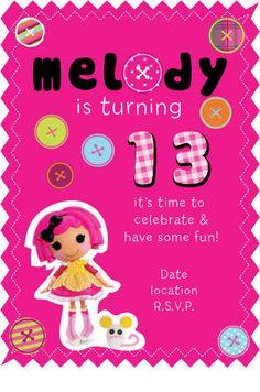 Lalaloopsy Invites
