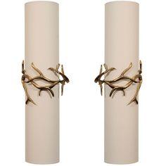 """""""Branche"""" Contemporary Bronze Sconce by Hervé van der Straeten"""