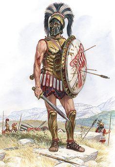 """Spartan Hoplite, V century BC"", Igor Dzis"