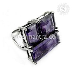 All Of Us!! 925 Sterling Silver Amethyst Ring