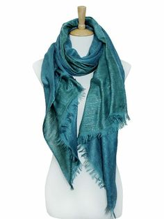 Shimmering Turquoise Scarf.