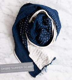 Embroidery 101: Running Stitch + Ombre Summer Scarf – Design*Sponge