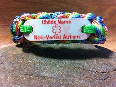 Autism Non Verbal Name Bracelet Medical Alert by EMSALERTS on Etsy, $13.00