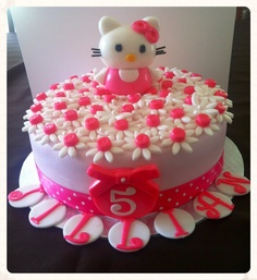 Birthday Cake I Did For A 3 Yr Old Little Girl Cakes Pinterest