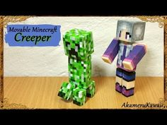 Posable Minecraft Creeper - Polymer Clay Tutorial - YouTube