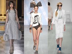 10 Spring 2015 Trends from London Fashion Week - London Fashion Week mirrored many trends from NYFW, while also introducing a few fresh ideas. Discover the latest fashion, hair and makeup trends from London.