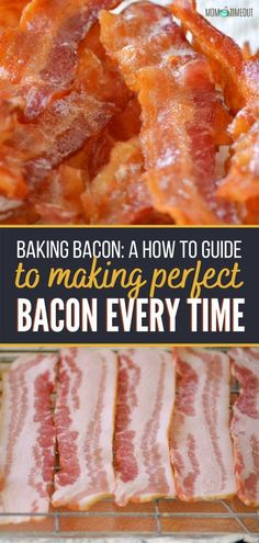 This is the best way to cook bacon every single time! This oven-baked bacon recipe is simple, crispy, and nothing but perfection. It is a quick and easy recipe for the family. Learn how to make this restaurant-style bacon with step by step instructions! Bacon Recipes, Appetizer Recipes, Sweet Recipes, Yummy Recipes, Oven Baked Bacon, Bacon In The Oven, Dinner Recipes Easy Quick, Quick Easy Meals, Simple Recipes