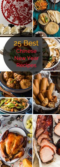 Top 25 Chinese New Year Recipes A delicious roundup to share cooking inspiration based on my understanding of Chinese New Year, as a Beijinger. Chinese New Year Dishes, Chinese Dinner, Chinese New Year Party, Chinese Holidays, Chinese New Year Traditions, Chinese Christmas, Chinese Birthday, New Years Dinner, Best Chinese Food