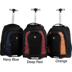 CalPak Element Unisex 18-inch Rolling Lightweight Laptop Backpack... ($42) ❤ liked on Polyvore featuring bags, backpacks, orange, calpak backpack, backpack laptop bag, pocket backpack, padded laptop backpack and laptop bag