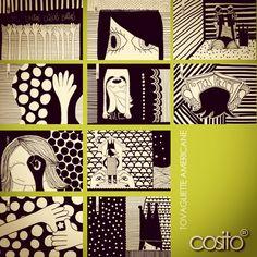 tovagliette americane....cottone 100% lavabili...10 illustrazioni originali by Cosito!...scegli!...in vendita!