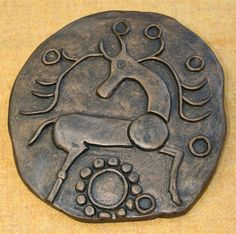 Leaf Trading Post. Celtic coin wall plaque - bronze stag ... Want !!!