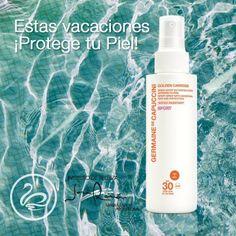 Lo mas nuevo !!!! Disfrutando del new  Spray Sport de Protección Anti-Edad global water resistant SPF 30 Cara-Rostro.  Lo mejor bajo el sol con GOLDEN CARESSE .