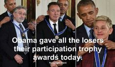 Ass-sorted losers getting their participation trophy.....