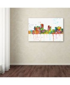 Marlene Watson Little Rock Arkansas Skyline Mclr 1 Canvas Art 16 X 24 Artist Canvas Canvas Art Canvas