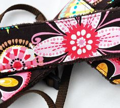 Digital Camera dSLR Strap  Carnival Bloom Brown by TheSweetStrap, $33.00