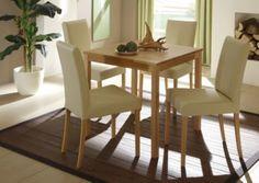 Essgruppe Mit Tisch 75 X 75 Cm Kernbuche Massiv Lackiert / 4 Stühle  Kunstleder Beige Jetzt Bestellen Unter: Https://moebel.ladendirekt.de/kueche Und   ...
