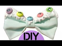 DIY Cute M&Ms Candies Glitter Paint Drip Hair Bow | Pastel Goth + Halloween or Everyday Outfits! | - YouTube