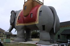 Real Estate speculator James V. Lafferty began building Lucy the Elephant in 1881, in an effort to lure the potential property buyers to Margate, a tiny shore town just south of Atlantic City.  1966 locals, who had long rallied to save the infamous pachyderm, succeeded in getting the state to certify Lucy the Elephant as a landmark. Federal authorities soon followed suit and she became a nationally protected site as well. In 1970 she was moved, repainted & repaired, and today houses a…
