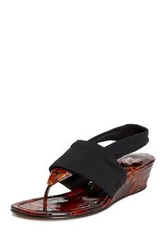 Dasan Wedge Thong Sandal by Donald Pliner...Love the texture of the heal