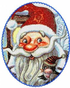 Screenshot for Santa Claus photo stitch free embroidery design Embroidery Files, Embroidery Stitches, Embroidery Patterns, Santa Claus Photos, Photo Stitch, Free Machine Embroidery Designs, Free Design, Christmas Things, Author
