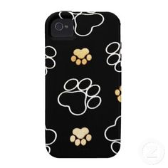 Dog Puppy Paw Prints Gifts for Dog Lovers Case-Mate iPhone 4 Cases