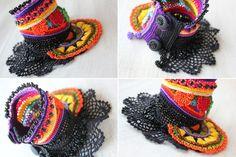 freeform crochet cuff Gloriosa Superba: by irregularexpressions