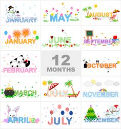 Months of the Year Printable - can match the month to the pictures