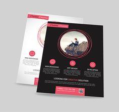 Modern Web/App Design Agency Flyer/Poster on Behance