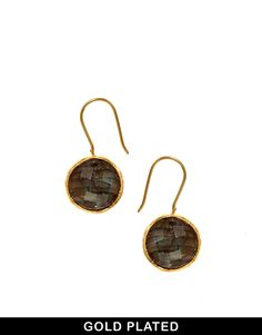 Ottoman Hands Labradorite Semi Precious Stone Earrings