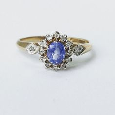 New Arrival! This superb 9ct Gold Cornflower Blue Sapphire & Diamond Ring is available now!