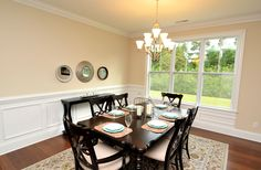 Large dining area open to the kitchen and great room.