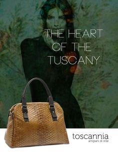 In the heart of the Tuscany. Toscannia, Italian, leather handbags www.toscannia.com