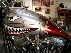 custom paint motorcycles flames - Google Search
