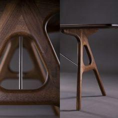 Neva Stuhl Aus Massivholz Mit Lederbezug Von Artisan   Individuelle Design  Möbel✓ Hervorragende Qualität✓