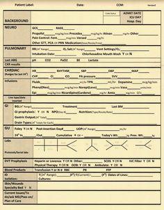 Nurse Nacole   Nurse Meets YouTube: Bedside Nursing Documentation Sheet   Surgical Page